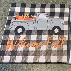 Other - Black and white checkered  fall decor canvas art